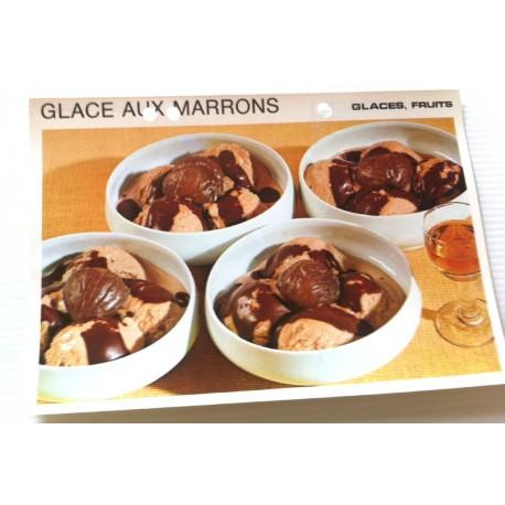 """FICHE CUISINE vintage rétro la bonne cuisine glaces,fruits """" glace aux marrons """""""