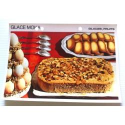 """FICHE CUISINE vintage rétro la bonne cuisine glaces,fruits """" glace moka"""""""