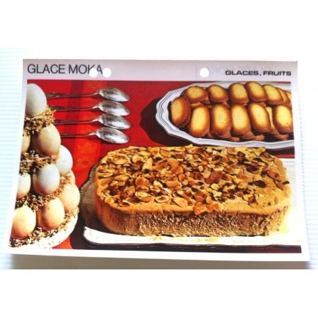 """FICHE CUISINE vintage rétro la bonne cuisine glaces,fruits """" glace moka """""""