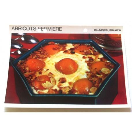 """FICHE CUISINE vintage rétro la bonne cuisine glaces,fruits """" abricots fermière """""""