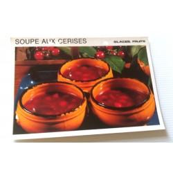 """FICHE CUISINE vintage rétro la bonne cuisine glaces,fruits """" soupe aux cerises"""""""