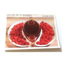 """FICHE CUISINE vintage rétro la bonne cuisine glaces,fruits """" vin de framboises"""""""