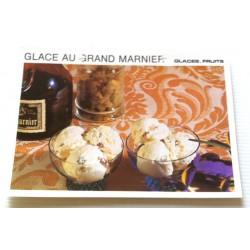 """FICHE CUISINE vintage rétro la bonne cuisine glaces,fruits """" glace au grand marnier"""""""
