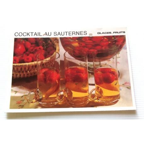 """FICHE CUISINE vintage rétro la bonne cuisine glaces,fruits """" cocktail au sauternes """""""