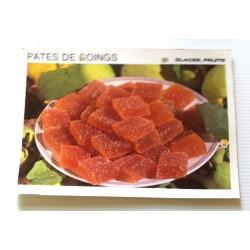 """FICHE CUISINE vintage rétro la bonne cuisine glaces,fruits """" pâtes de coings"""""""