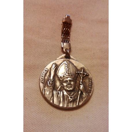 Collectionneur ancien médaillon porte clé joannes paulus II roma italy (jean paul II )