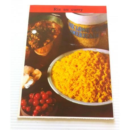 """FICHE CUISINE de ELLE vintage rétro par Madeleine Peter """"riz au curry """""""
