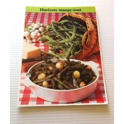 """FICHE CUISINE de ELLE vintage rétro par Madeleine Peter """"Haricots mange tout"""" collection occasion"""