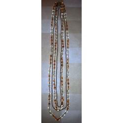vintage !! ancien collier perles nacre + métal ?