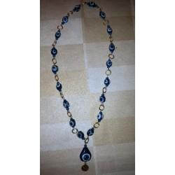 vintage !! ancien collier perles Maghreb + métal