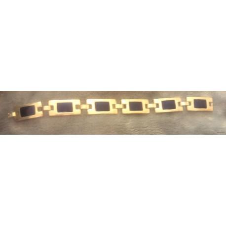vintage !! ancien bracelet metal couleur argent + bleu origine et metal inconnue