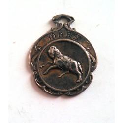 Ancien médaillon argent mars bélier